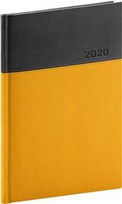 Týdenní diář Dado 2020, žlutočerný, 15 × 21 cm