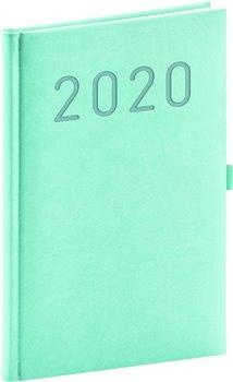 Týdenní diář Vivella Fun 2020, tyrkysový, 15 × 21 cm