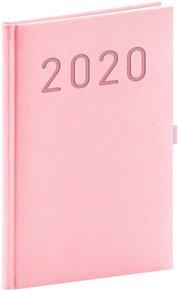 Týdenní diář Vivella Fun 2020, růžový, 15 × 21 cm