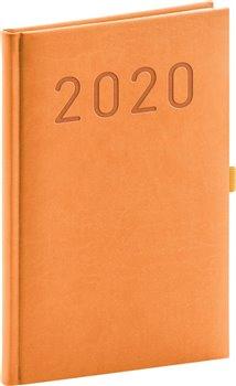 Týdenní diář Vivella Fun 2020, oranžový, 15 × 21 cm