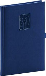Týdenní diář Vivella Classic 2020, modrý, 15 × 21 cm