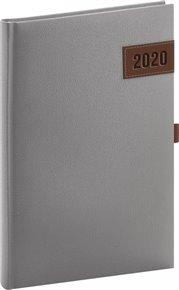 Týdenní diář Tarbes 2020, stříbrný 15 × 21 cm