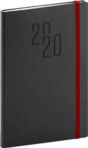 Týdenní diář Soft 2020, černý, 15 × 21 cm