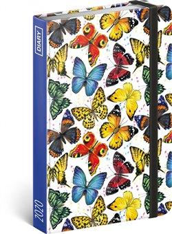 Obálka titulu Týdenní diář Motýli 2020, 11 × 16 cm