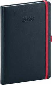 Týdenní diář Luzern 2020, indigový 15 × 21 cm