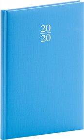 Týdenní diář Capys 2020, světle modrý, 15 × 21 cm