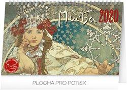 Obálka titulu Stolní kalendář Alfons Mucha 2020, 23,1 × 14,5 cm
