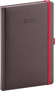 Týdenní diář Luzern 2020, mahagonový 15 × 21 cm