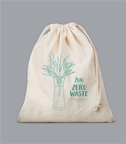 Obálka titulu Plátěný sáček Zero Waste - zelený