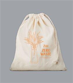 Plátěný sáček Zero Waste - oranžový