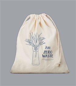 Obálka titulu Plátěný sáček Zero Waste - modrý
