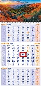 Nástěnný kalendář 3-MĚSÍČNÍ 2020