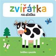 Zvířátka na statku - Knížka s puzzle