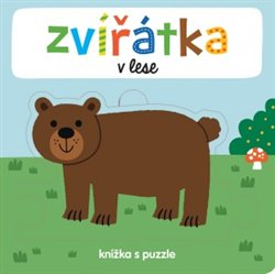 Zvířátka v lese - Knížka s puzzle