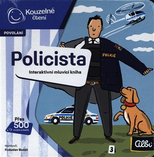 Kouzelné čtení - minikniha povolání Policista - -   Booksquad.ink