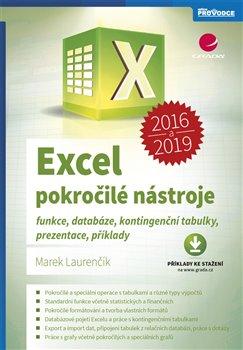 Obálka titulu Excel 2016 a 2019 - pokročilé nástroje