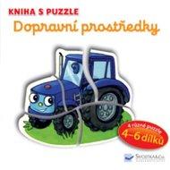 Dopravní prostředky - Kniha s puzzle
