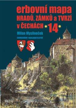 Obálka titulu Erbovní mapa hradů, zámků a tvrzí v Čechách 14