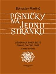 Písničky na jednu stránku - Cyklus písní na texty moravské lidové poezie