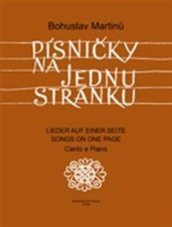 Obálka titulu Písničky na jednu stránku - Cyklus písní na texty moravské lidové poezie