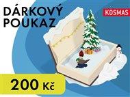 Elektronický dárkový poukaz Vánoce v hodnotě 200 Kč