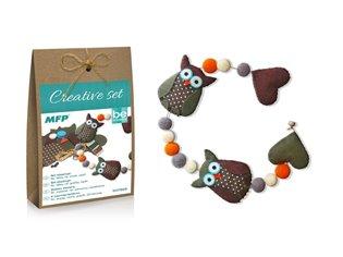 Kreativní set - girlanda sovy hnědá, papír.krabička - - | Booksquad.ink