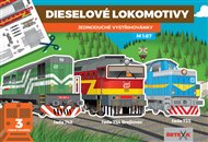 Dieselové lokomotivy - Jednoduché vystřihovánky