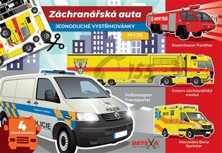 Záchranářská auta - Jednoduché vystřihovánky - - | Booksquad.ink