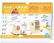 Školní plánovací kalendář s háčkem /srpen 2020 - červenec 2021/