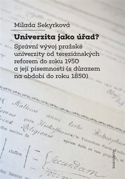 Obálka titulu Univerzita jako úřad?