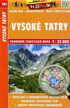 Obálka titulu Vysoké Tatry / Turistická mapa SHOCart