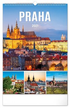 Obálka titulu Nástěnný kalendář Praha 2021, 33 × 46 cm
