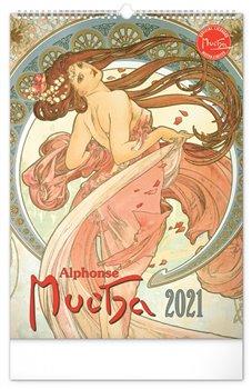 Obálka titulu Nástěnný kalendář Alfons Mucha 2021, 33 × 46 cm
