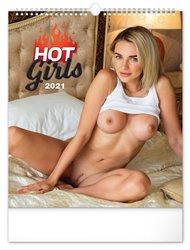 Nástěnný kalendář Hot Girls 2021, 30 × 34 cm
