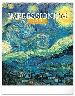 Obálka titulu Nástěnný kalendář Impresionismus 2021, 48 × 56 cm
