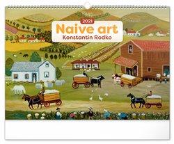 Obálka titulu Nástěnný kalendář Naivní umění – Konstantin Rodko 2021, 48 × 33 cm