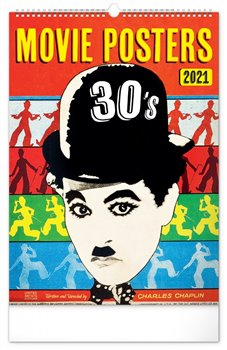 Obálka titulu Nástěnný kalendář Retro plakáty 2021, 33 × 46 cm