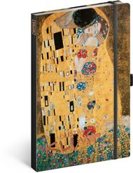 Notes Gustav Klimt, linkovaný, 13 × 21 cm