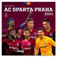 Poznámkový kalendář AC Sparta Praha 2021, 30 × 30 cm