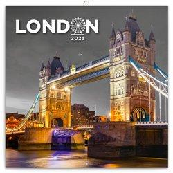 Obálka titulu Poznámkový kalendář Londýn 2021, 30 × 30 cm