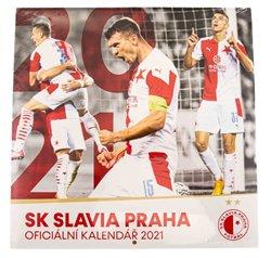Poznámkový kalendář SK Slavia Praha 2021, 30 × 30 cm