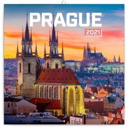 Obálka titulu Poznámkový kalendář Praha nostalgická 2021, 30 × 30 cm