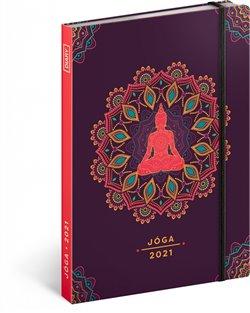 Obálka titulu Jóga diář 2021, 15 × 21 cm