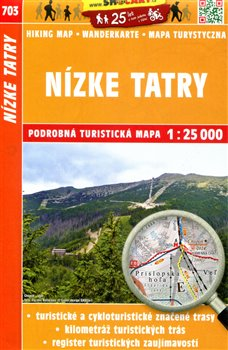 Nízké Tatry / Turistická mapa SHOCart