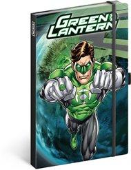 Notes Green Lantern, linkovaný, 13 × 21 cm