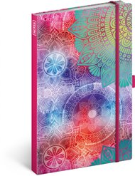 Notes Mandala, linkovaný, 13 × 21 cm
