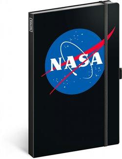 Obálka titulu Notes NASA, linkovaný, 13 × 21 cm