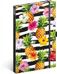 Notes Ananasy, linkovaný, 13 × 21 cm