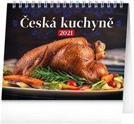 Stolní kalendář Česká kuchyně 2021, 16,5 × 13 cm