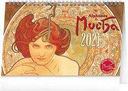 Obálka titulu Stolní kalendář Alfons Mucha 2021, 23,1 × 14,5 cm